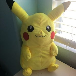 Plush pikachu backpack